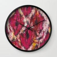 Ikat1 Wall Clock