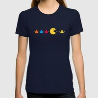 Missing Piece Womens Fitted Tee Navy SMALL