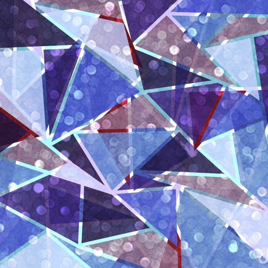 Sparkle Geometric Art Print
