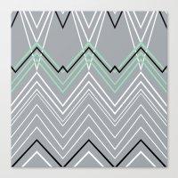 Mint Grey Chevy Canvas Print