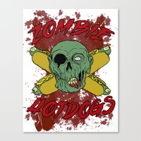 zombie hotdogs Canvas Print
