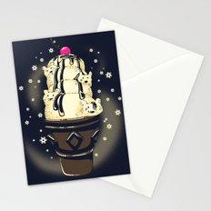 Ice Cream Bears (Dark Blue) Stationery Cards