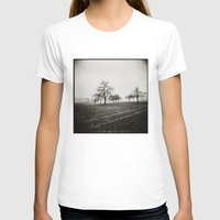 { Skeleton Trees } Womens Fitted Tee White SMALL