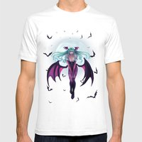 Morrigan - Darkstalkers Mens Fitted Tee White SMALL