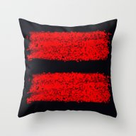 Traces Rouges Throw Pillow