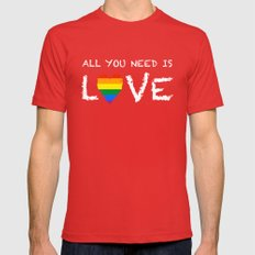 ALL YOU NEED Mens Fitted Tee Red SMALL