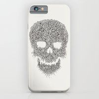 iPhone & iPod Case featuring Grey Skull Illustration by The Babybirds