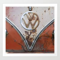Rusty VW Art Print