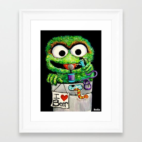 THE GROUCH Framed Art Print