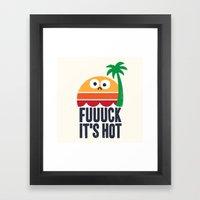 Heated Rhetoric Framed Art Print