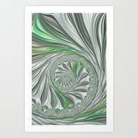 Green And Grey Art Print