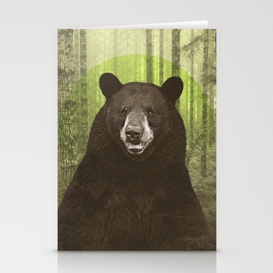 Black Bear Stationery Card