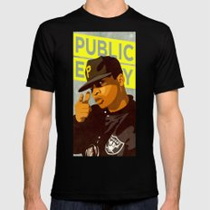Chuck D Mens Fitted Tee SMALL Black