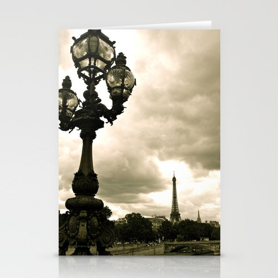 A Night In Paris Stationery Card