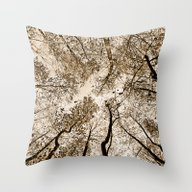 Sepia Fall Throw Pillow