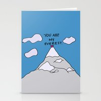 You Are My Everest Stationery Cards
