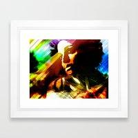 Faced Framed Art Print
