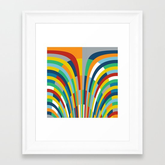 Rainbow Bricks #2 Framed Art Print