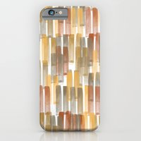 iPhone Cases featuring Watercolor Paint Lines One by Robin Gayl