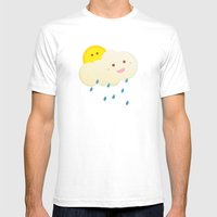 Raining Day Mens Fitted Tee White SMALL