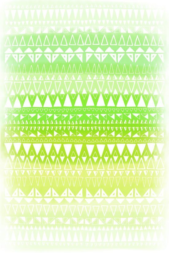 Triangle Gradient Lime Mix Art Print