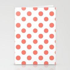 Polka Dots (Salmon/White) Stationery Cards
