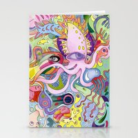 Dazzling Squid Stationery Cards