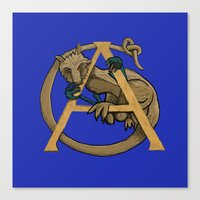 Alfie the Alphyn Letter A Canvas Print
