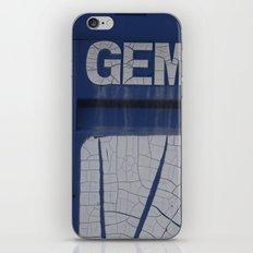 gem blue iPhone & iPod Skin