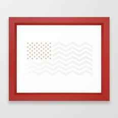 GOLD Stars & Stripes Framed Art Print
