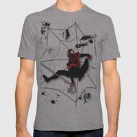 Ultimate Spider-man Miles Morales Mens Fitted Tee Athletic Grey SMALL