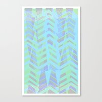 Seaside Chevron Canvas Print