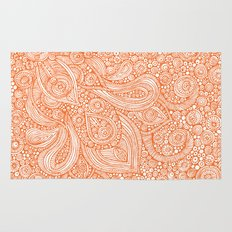 Orange doodles Rug