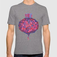 Beet (Betterave) Mens Fitted Tee Tri-Grey SMALL