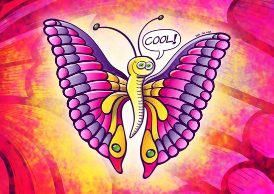 Coolorful Butterfly Art Print