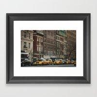 West 86th Street Framed Art Print