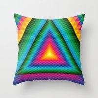 Triangle Of Life Throw Pillow