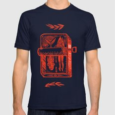 Little Fish Mens Fitted Tee Navy SMALL