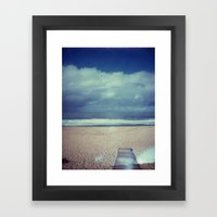 Tura Beach Polaroid Framed Art Print
