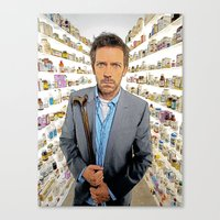 House MD - Colored Penci… Canvas Print