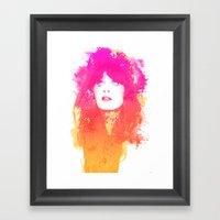 Zooey Deschanel Framed Art Print
