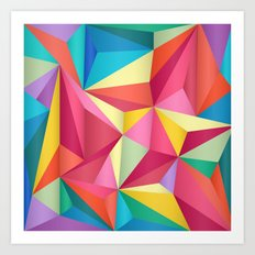 Colors And Triangles Art Print
