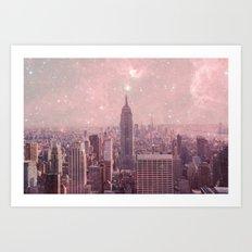 Stardust Covering New York Art Print