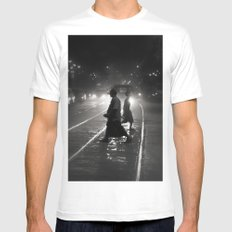 Streets of Kolkata Mens Fitted Tee SMALL White