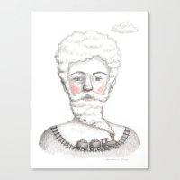 Bearded lady (Femme à barbe) Canvas Print