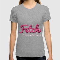 Fetch Womens Fitted Tee Tri-Grey SMALL
