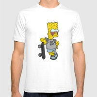 MELTING BART Mens Fitted Tee White SMALL
