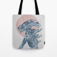 Floral Alien Tote Bag