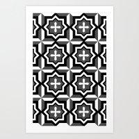 cross Art Prints featuring cross by ErDavid