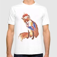 QUEEN's JUBILEE Fox - 8x… Mens Fitted Tee White SMALL